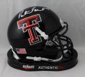 Patrick Mahomes II Autographed Texas Tech Schutt Mini Helmet - JSA W Auth *White
