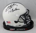 LaVar Arrington Autographed Penn State Mini Helmet w/ Insc - JSA W Auth *Black
