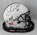 Shane Conlan Autographed Penn State Mini Helmet w/ Natl Champs - JSA W Auth *Blk