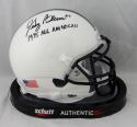 Greg Buttle Autographed Penn State Mini Helmet w/ All American - JSA W Auth *Blk
