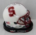 Jim Plunkett Signed Stanford Cardinals Mini Helmet Heisman 1970 JSA W Auth*Top
