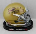 Joe Theismann Signed Notre Dame Mini Helmet w/ CHOF 2003 JSA W Auth *Blue
