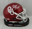 Brian Bosworth Autographed OU Sooners Mini Helmet - Beckett W Auth *Silver