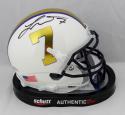 Tyrann Mathieu Autographed LSU Schutt Special 7 Mini Helmet - Beckett Auth *Black