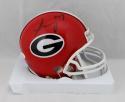 Sony Michel Autographed Georgia Bulldogs Mini Helmet- JSA W Auth *Black