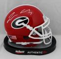 Lorenzo Carter Autographed Georgia Bulldogs Schutt Mini Helmet- JSA W Auth *White