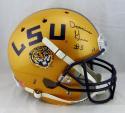 Derrius Guice Autographed LSU Tigers Gold Full Size Helmet - JSA W Auth *Black