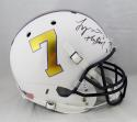 Tyrann Mathieu Signed LSU Tigers F/S Special 7 Helmet w/ Insc - Beckett Auth *Blk