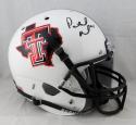 Patrick Mahomes Autographed Tx Tech-Texas Pride White Helmet JSA W Auth *Blk