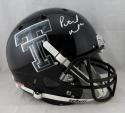 Patrick Mahomes II Autographed Tx Tech- Camo Logo Helmet - JSA W Auth *White