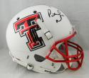 Patrick Mahomes II Autographed Tx Tech White w/ Red FM Helmet JSA W Auth *Black