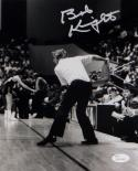 Bob Knight Autographed Indiana 8x10 B&W Throwing Chair Photo-JSA W Auth *Silver