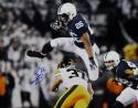 Saquon Barkley Autographed Penn St 16x20 Leap Over Defender- JSA W Auth *Blue