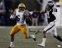 Derrius Guice Autographed LSU Tigers 16x20 vs Texas A&M- JSA W Auth *Black