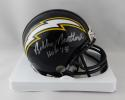Bobby Beathard Autographed Chargers Mini Helmet w/ HOF - Beckett W Auth *Silver
