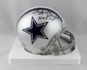 Rayfield Wright Signed Dallas Cowboys Mini Helmet w/ HOF- JSA W Auth *Black
