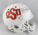 Barry Sanders Autographed Oklahoma State Cowboys White F/S TB Helmet- JSA W Auth