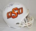 Barry Sanders Autographed F/S Oklahoma State Cowboys Riddell Helmet- JSA W Auth