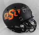 Barry Sanders Signed F/S Oklahoma State Cowboys Black Helmet- JSA W Auth *Silver