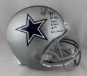 Jay Novacek Autographed Dallas Cowboys F/S Helmet w/ Insc- Beckett Auth *Black