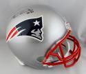 Ben Coates Autographed New England Patriots F/S Helmet - Beckett Auth *Black