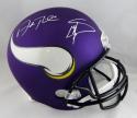 Stefon Diggs & Adam Thielen Autographed Vikings F/S Helmet- Beckett Auth *White