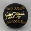Jack Morris Autographed Rawlings OML BLACK Baseball w/ HOF 18 - Beckett Auth
