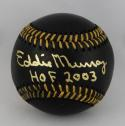 Eddie Murray Autographed Rawlings OML Black Baseball w/ HOF- JSA W Auth