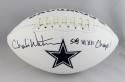 Charlie Waters Autographed Cowboys Logo Football w/ SB Champs- Jersey Source Auth