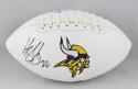 Harrison Smith Autographed Minnesota Vikings Logo Football- Beckett Auth