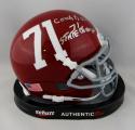 Coach Herman Boone Autographed Schutt Mini Helmet w/ Insc - JSA W Auth *Silver
