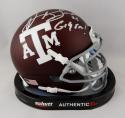 Kevin Smith Autographed Texas A&M Mini Helmet w/ Gig 'Em- Jersey Source Auth