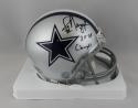 Jay Novacek Autographed Cowboys Mini Helmet w/ Insc- Beckett W Auth *Blk