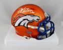 Champ Bailey Autographed Broncos BLAZE Mini Helmet- Beckett W Auth *White
