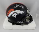 Champ Bailey Autographed Denver Broncos Mini Helmet- Beckett W Auth *Silver