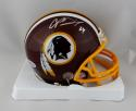 Champ Bailey Autographed Redskins Mini Helmet- Beckett W Auth *Silver
