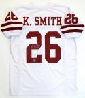 Kevin Smith Signed White College Style Jersey w/ Insc- The Jersey Source Auth *2