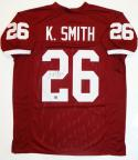 Kevin Smith Signed Maroon College Style Jersey w/ Insc- The Jersey Source Auth *2
