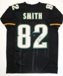 Jimmy Smith Autographed Black Pro Style Jersey - The Jersey Source Auth *2