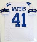 Charlie Waters Autographed White Pro Style Jersey w/ Insc - The Jersey Source Auth *4
