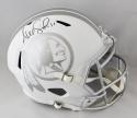 Alex Smith Autographed Washington Redskins F/S ICE Helmet - Beckett Auth *Black
