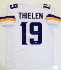 Adam Thielen Autographed White Pro Style Jersey- Beckett Authenticated *9