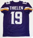 Adam Thielen Autographed Purple Pro Style Jersey w/ Insc- Beckett Auth *9