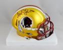 Alex Smith Signed Washington Redskins BLAZE Mini Helmet - Beckett Auth *Black