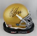 Harrison Smith Autographed Notre Dame Schutt Mini Helmet - Beckett Auth *Black