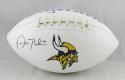 Adam Thielen Autographed Minnesota Vikings Logo Football- Beckett Auth