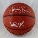 Larry Bird Magic Johnson Autographed Official NBA Spalding Basketball - Beckett Auth