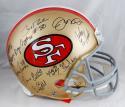 San Francisco 49ers 20 Signatures F/S ProLine 64-95 TB Helmet- JSA W Auth *Black
