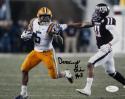 Derrius Guice Autographed LSU 8x10 Against Texas A&M Photo - JSA W Auth *Black