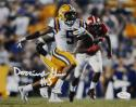 Derrius Guice Autographed LSU 8x10 Running Photo - JSA W Auth *White
